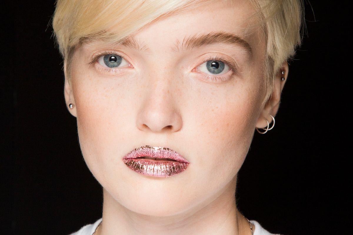 Breaking Beauty: Jeremy Scott's Gold Foil Lips