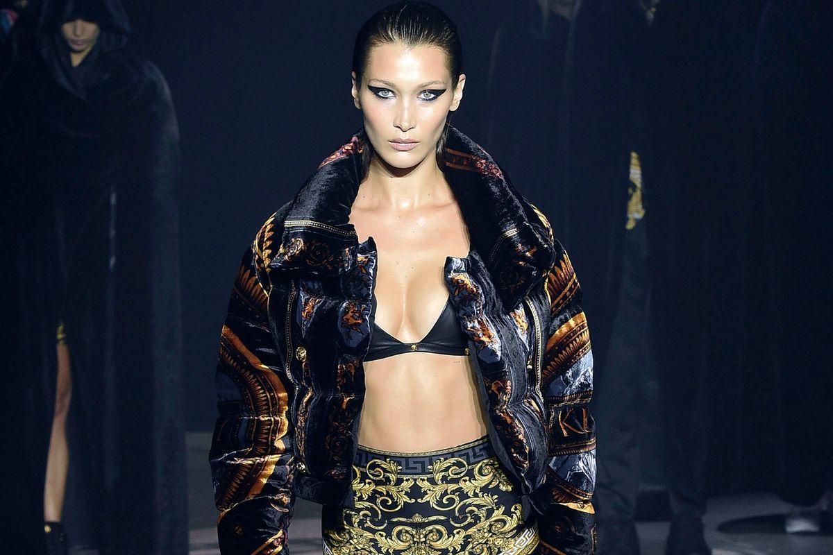 Bella Hadid Looks Incredible Opening Versace x Kith