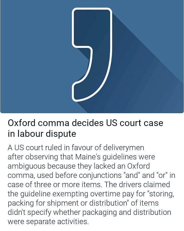 US Comma Court Case