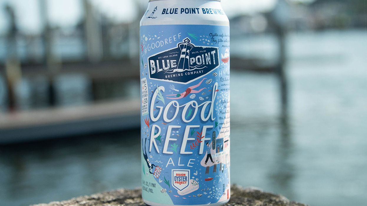 Long Island Brewer Launches 'Good Reef Ale' to Help Restore New York's Oyster Reefs