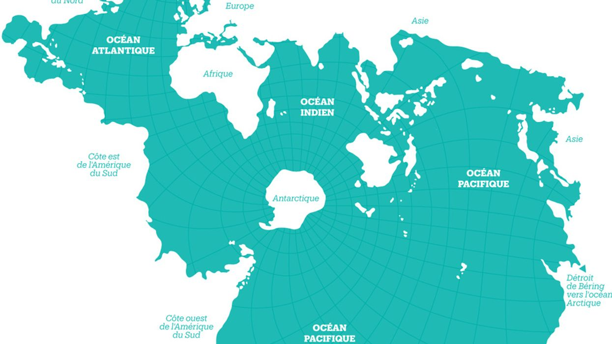 Finally, a world map that's all about oceans