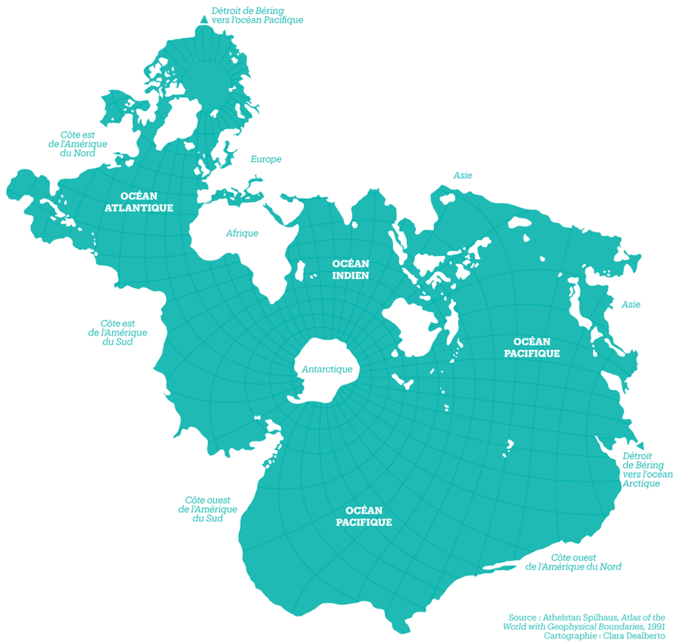 the world map oceans The Spilhaus Projection Amazing Map Of Earth S Oceans Big Think