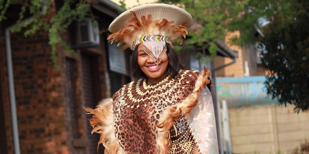 Ndebele Wedding attire design   South african traditional