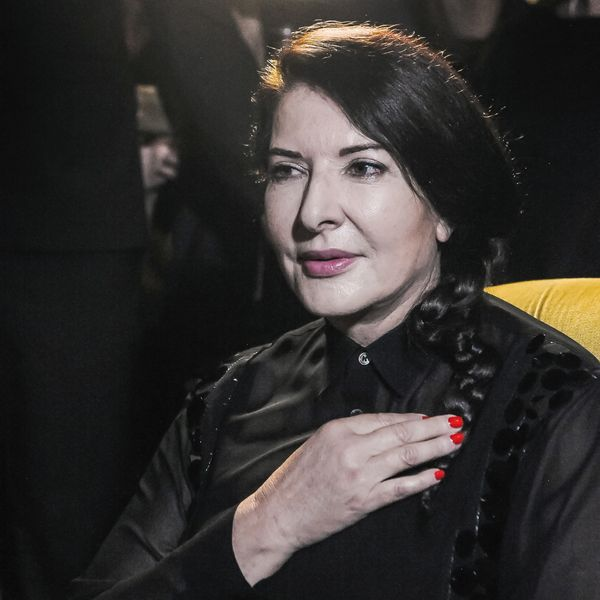 Marina Abramović Was Hit Over the Head With a Painting