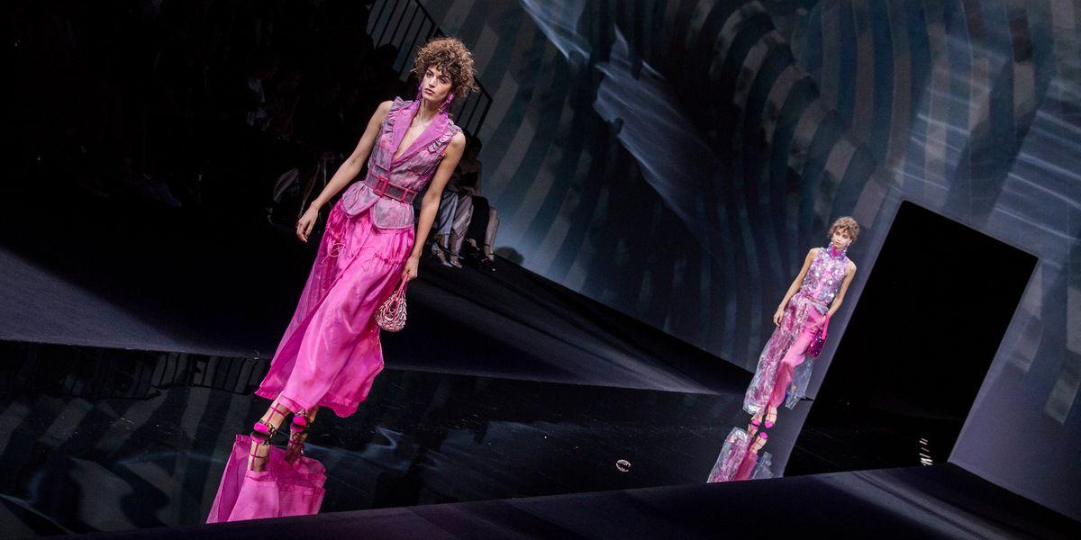 Giorgio Armani's Satin-Soaked Celebration of Color