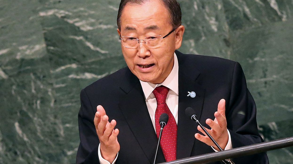 Ban Ki-moon, former United Nations Secretary General. (Photo by John Moore/Getty Images)