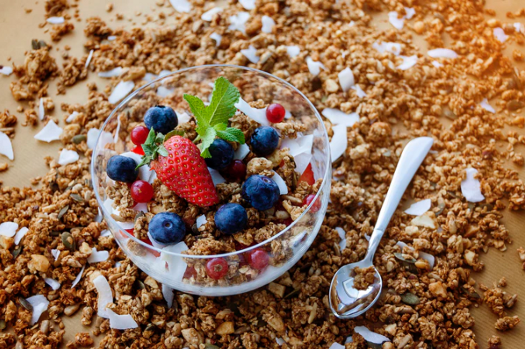 Unsplash- Granola and fruits
