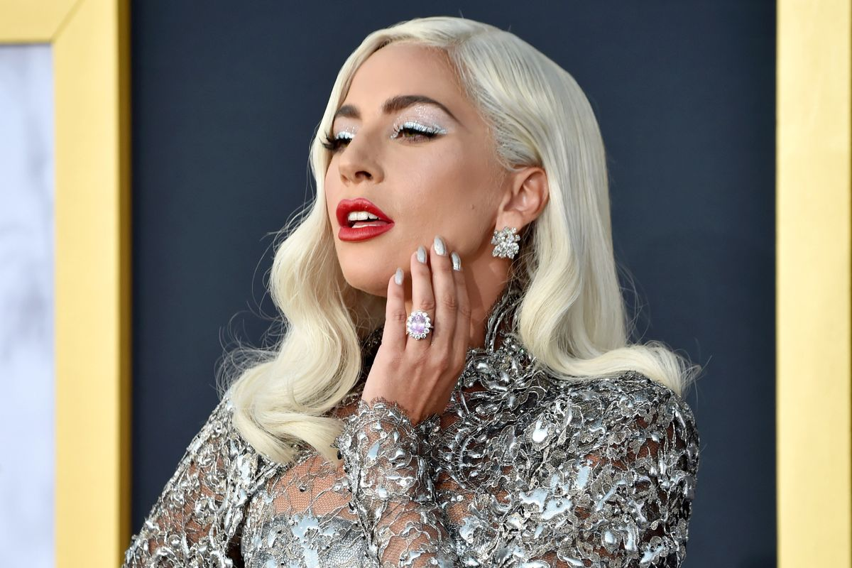 Lady Gaga Channels Barbra Streisand in Silver Givenchy