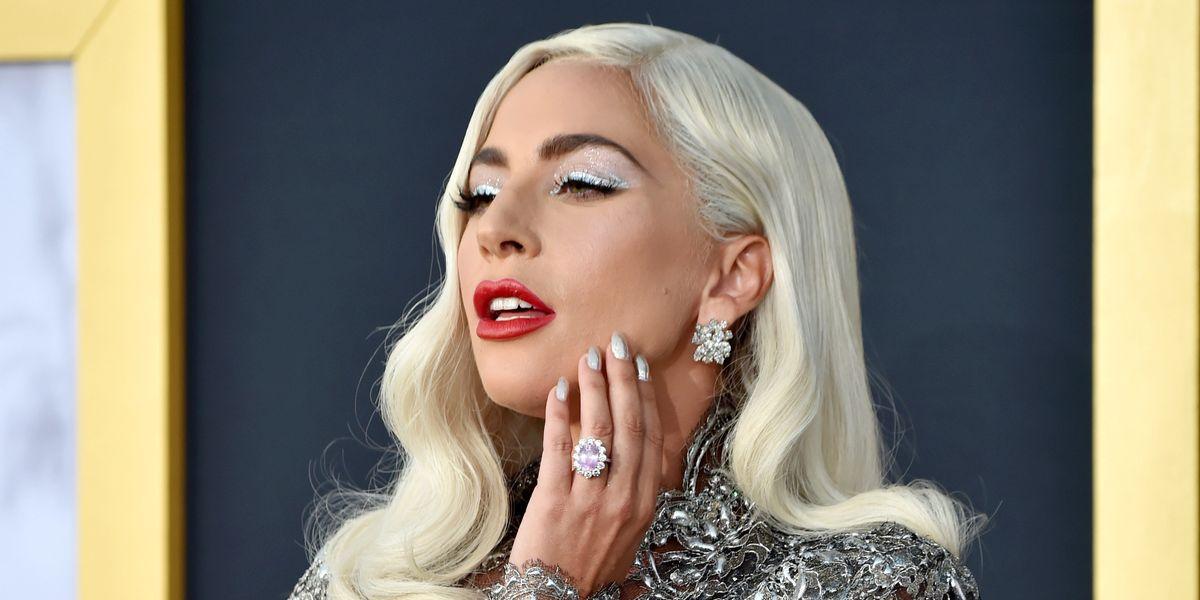 Lady Gaga Channels Barbra Streisand in Silver Givenchy