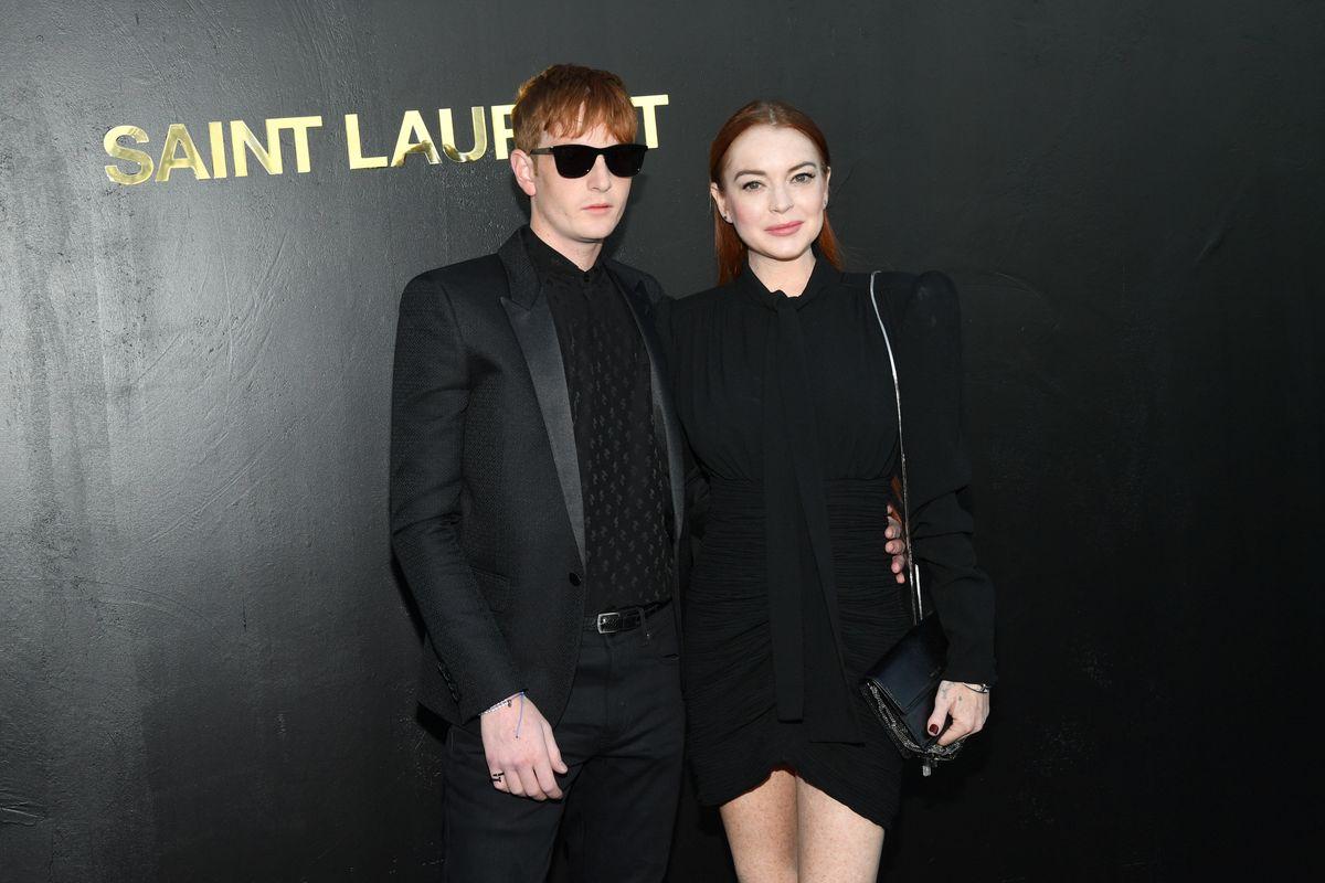 Lindsay Lohan Sat Front Row At Saint Laurent In Paris