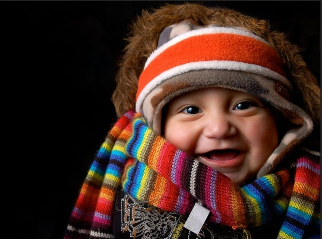 Flickr- Baby in warm clothes