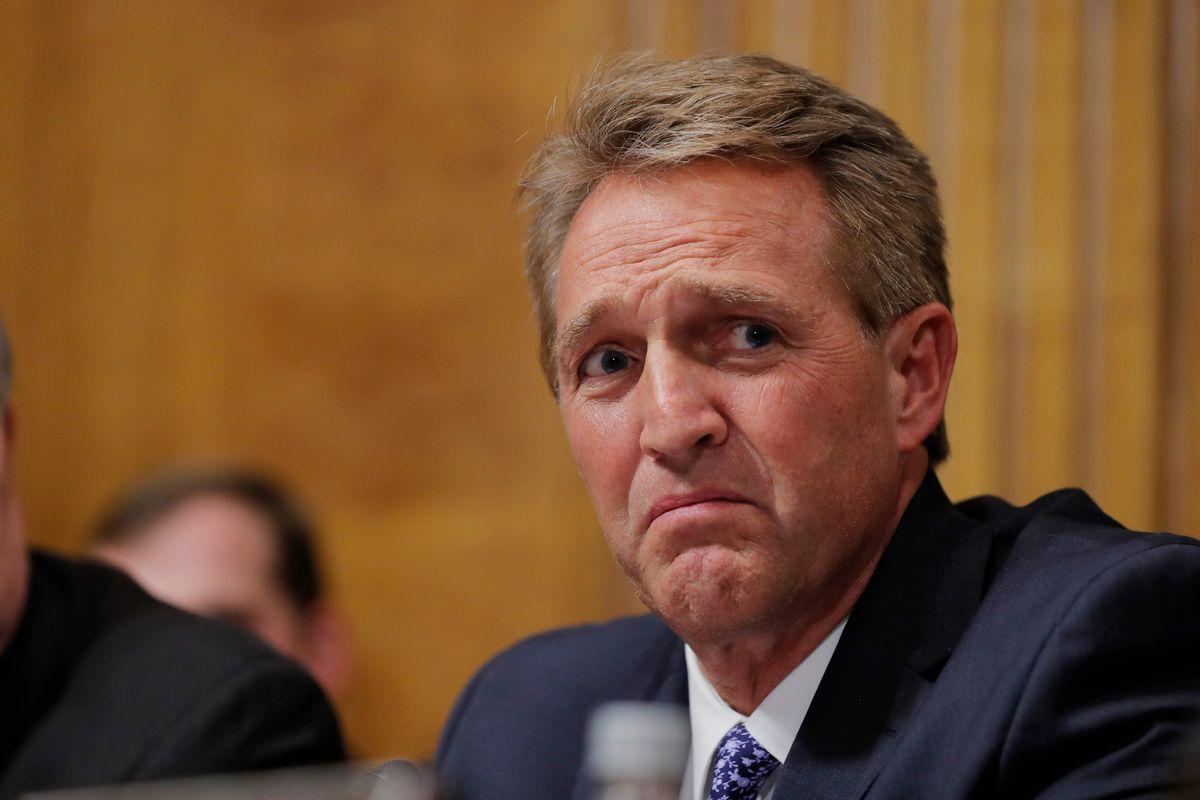 Survivors Tearfully Confront Senator Jeff Flake