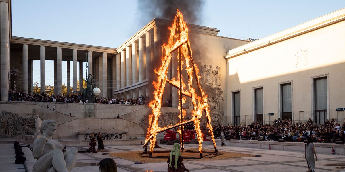 A Blazing Tower Anchored the Rick Owens Show