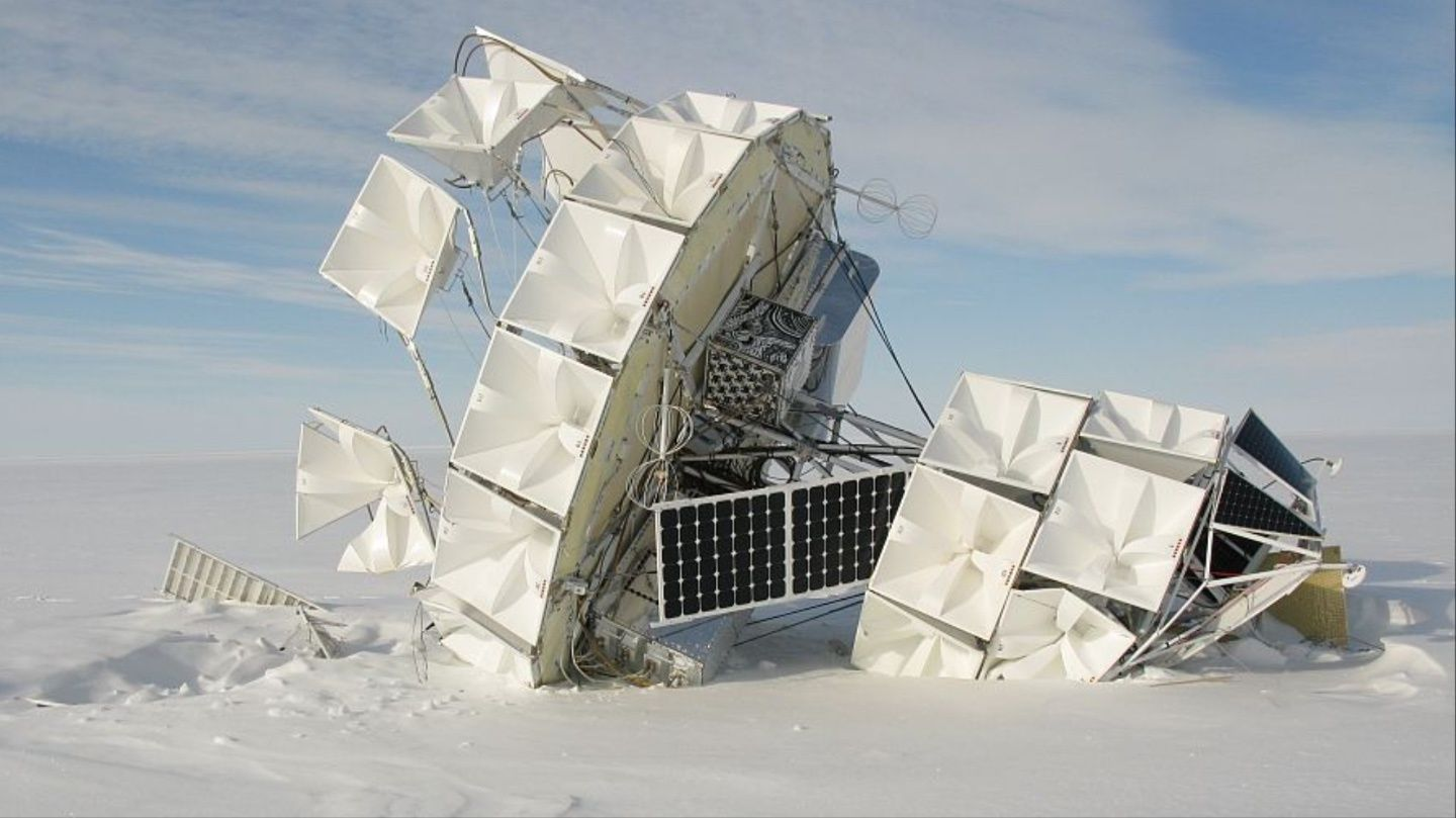cosmic rays out of                     Antarctica