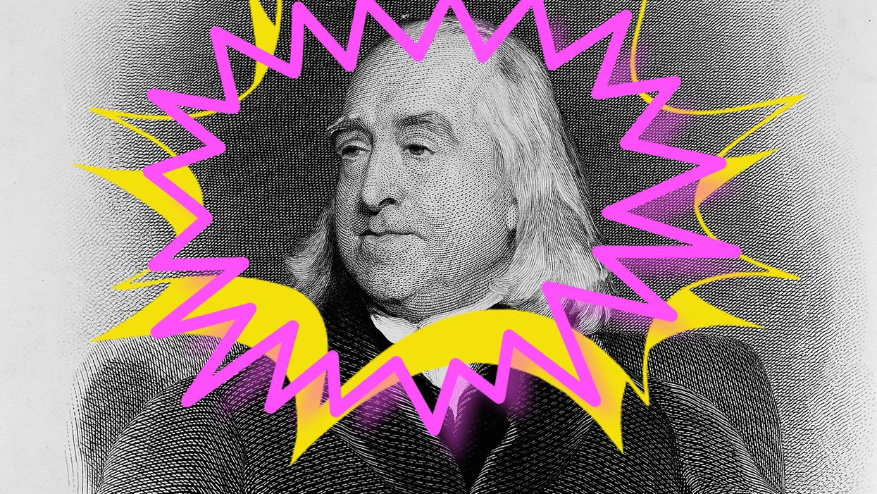 Portrait of Jeremy Bentham Engraving By: C. Foxafter: Henry W. Pickersgil