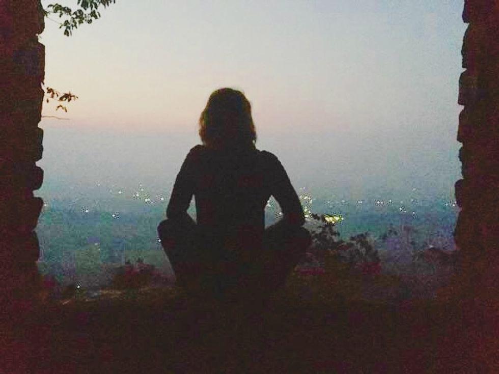 Me sitting on a mountain