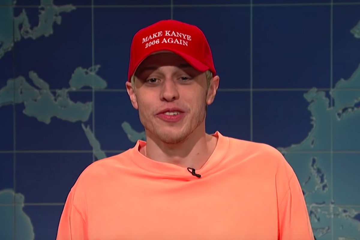Pete Davidson Reacts to Kanye West's SNL Trump Rant