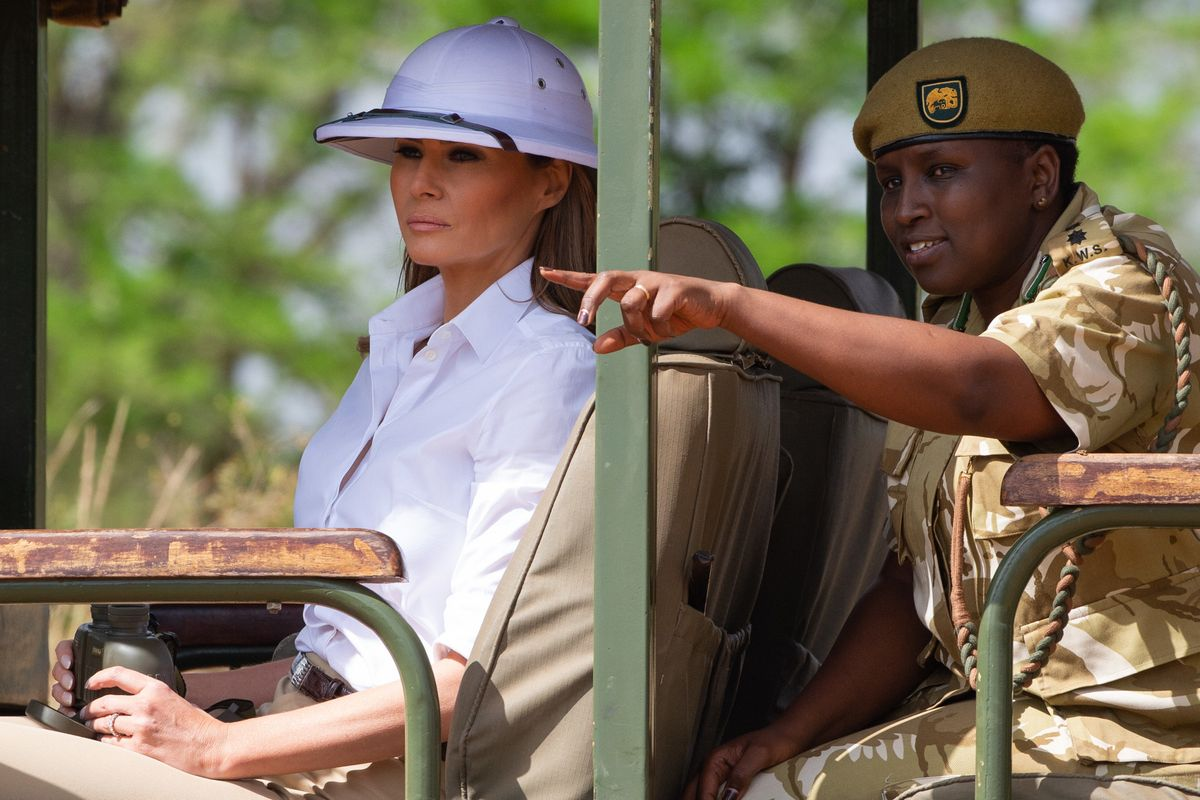 The History Behind Melania Trump's Controversial 'Colonialist' Outfits