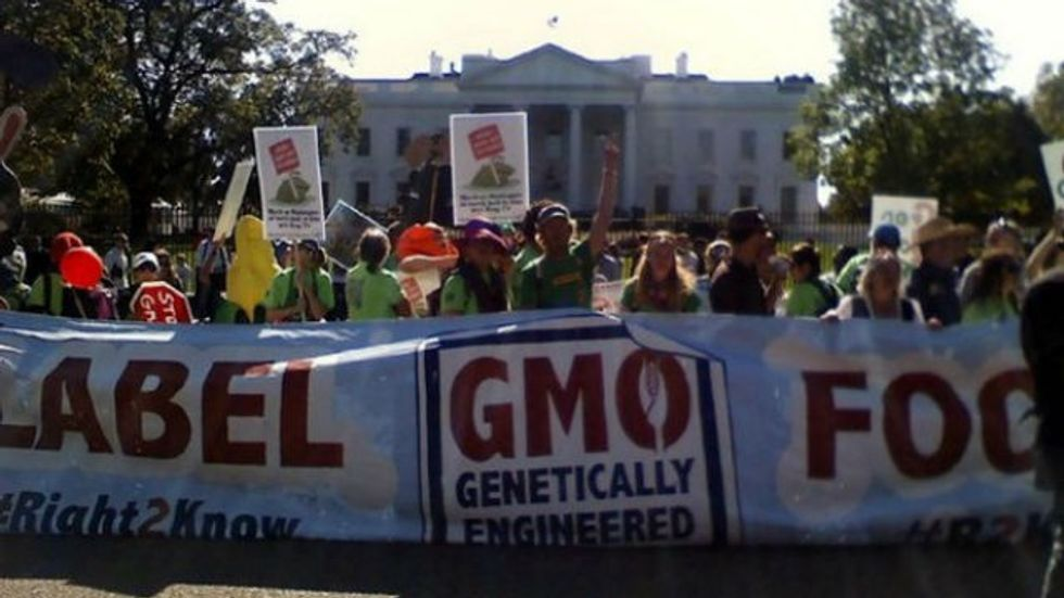 To: CEOs of BigAgTech       Re: Labeling of GMOs