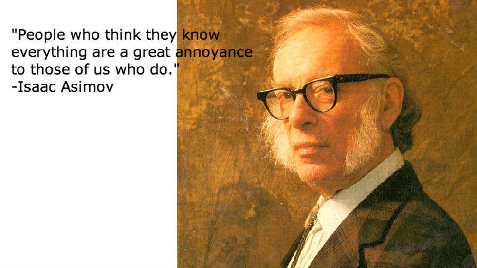 Isaac Asimov on Knowledge
