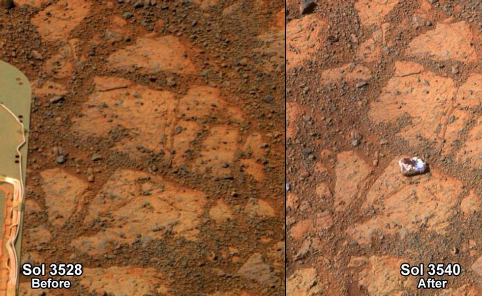 Donut Shaped Rock on Mars Promps Lawsuit
