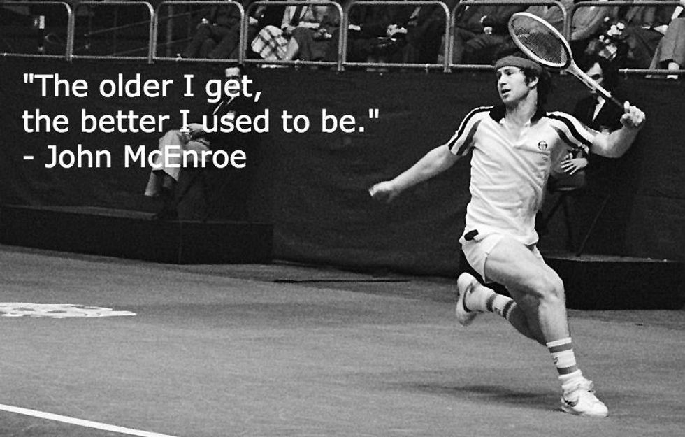 John McEnroe on Aging