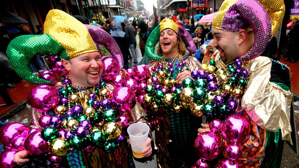 Your Brain Is like This Mardi Gras Party