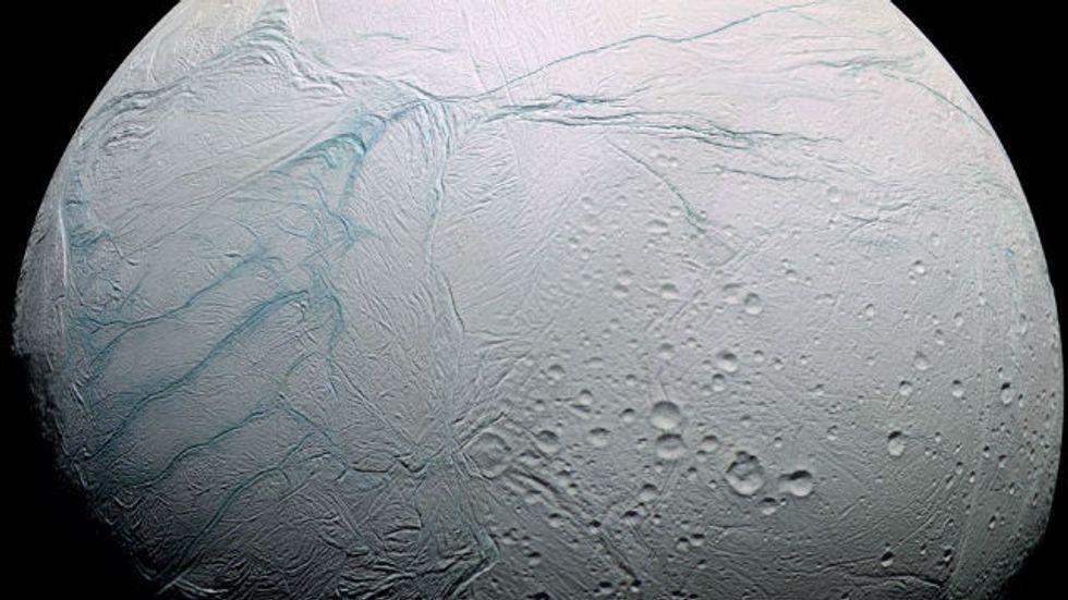 Tiger Stripes on Saturn's Moon
