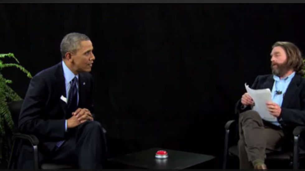 """President Obama is to """"Between Two Ferns"""" as Macy's Terry Lundgren is to Buzzfeed"""