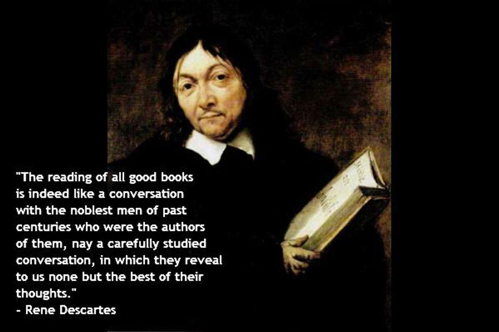Rene Descartes on Good Books