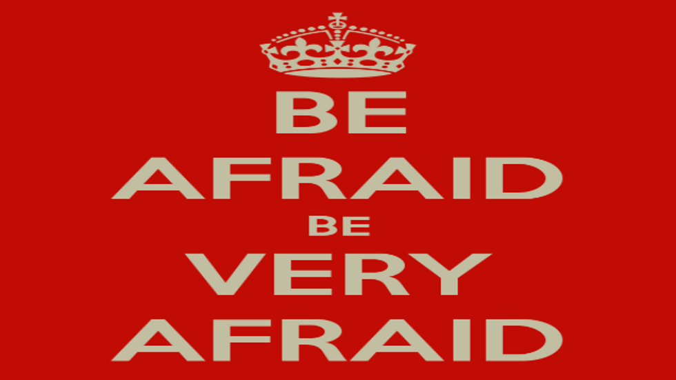 Be Afraid! Be VERY Afraid!!! How Can You Help It These Days?