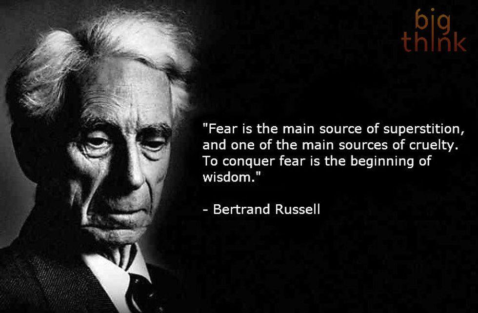 Bertrand Russell on Fear