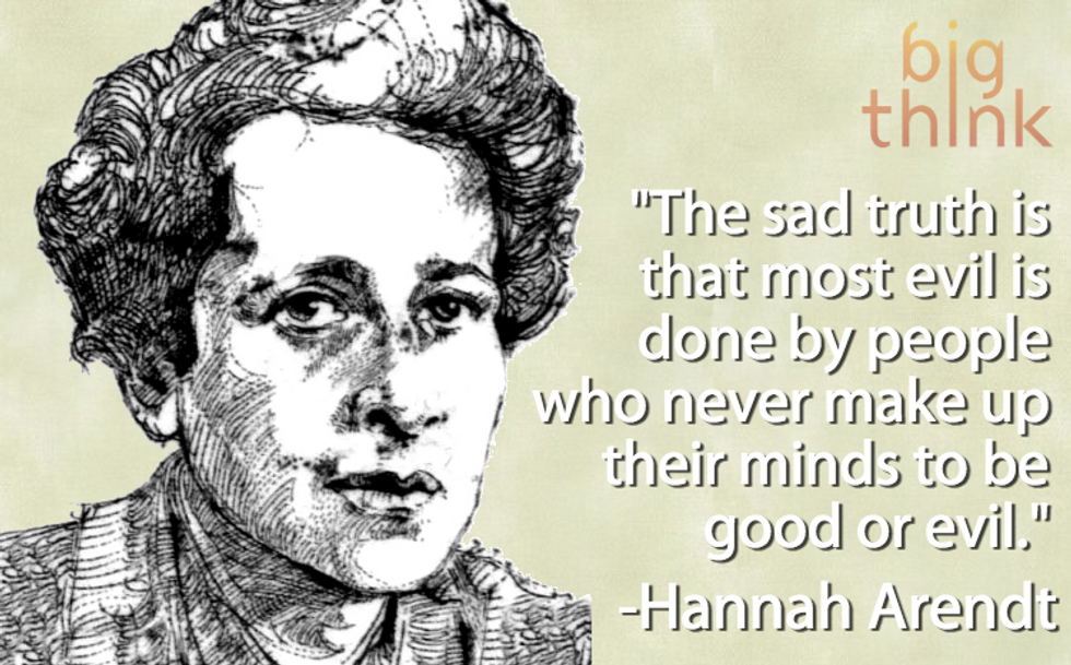 Hannah Arendt on Good and Evil