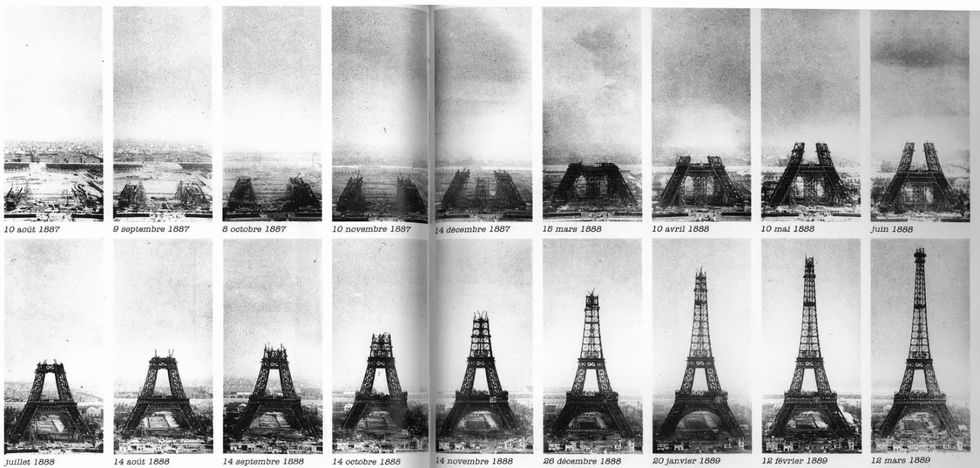 The rise of the Eiffel Tower, 1887–1889