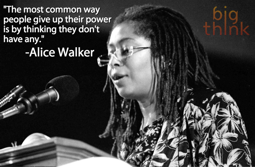 """Alice Walker: """"People give up their power by thinking they don't have any."""""""