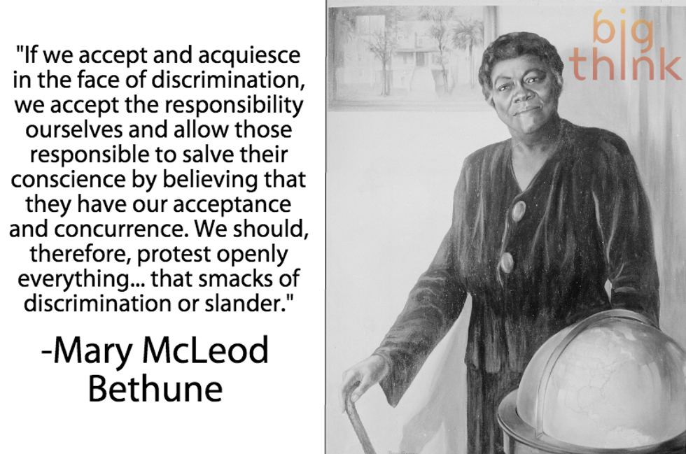 """Mary McLeod Bethune: """"Protest everything that smacks of discrimination"""""""