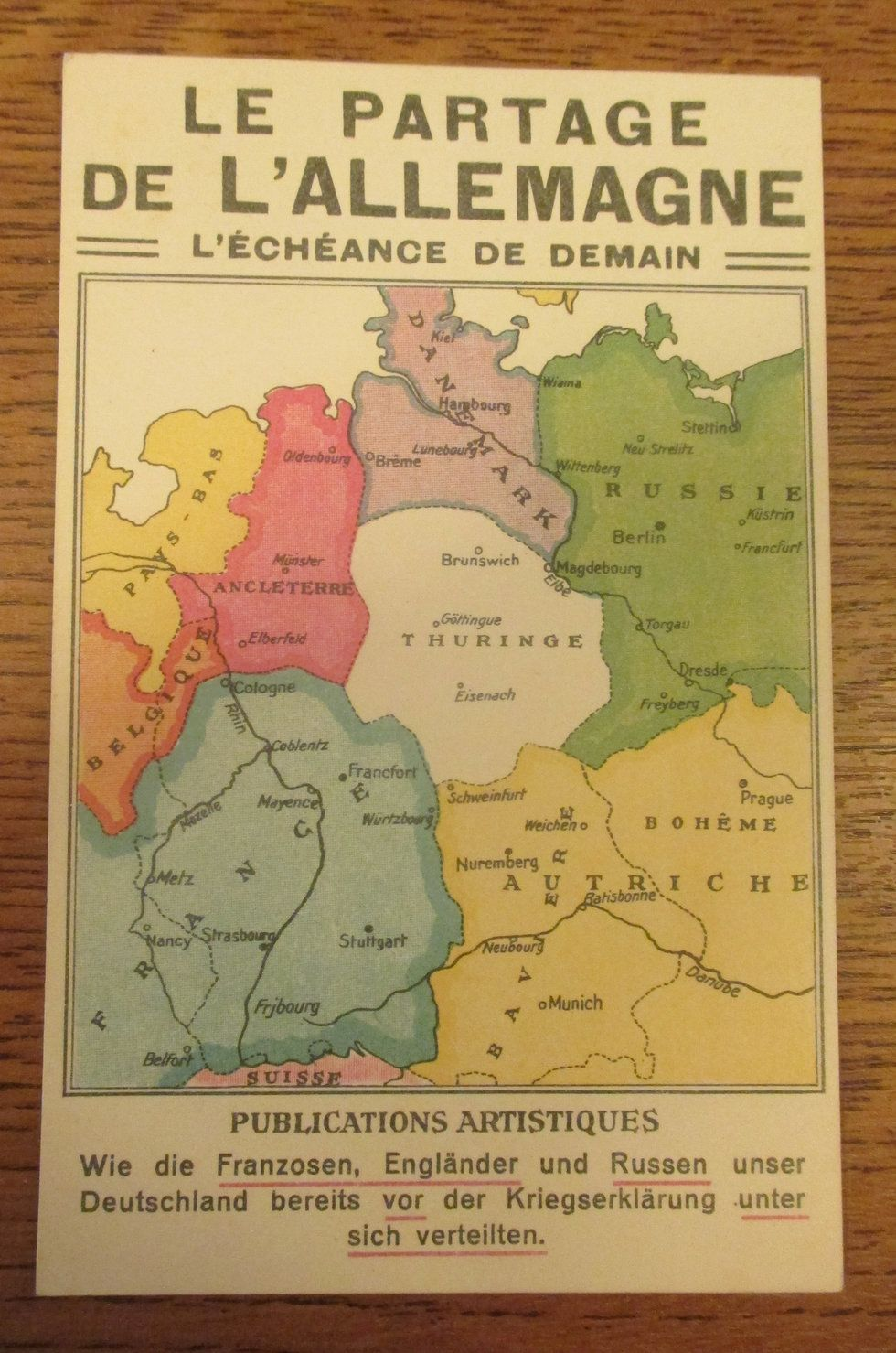 Map Of Germany In 1914.Postcard From A Future Without Germany Circa 1914 Big Think