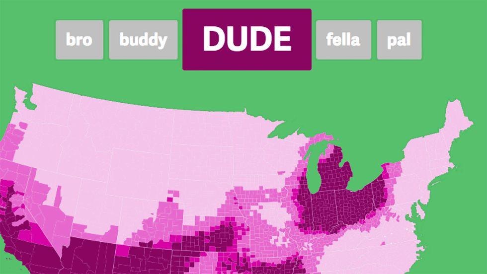 Is Your Best Friend a Bro, Dude or Buddy? It Depends on Where You Live