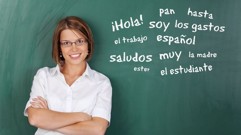 Spanish is the Language of Love. English, of Poetry.