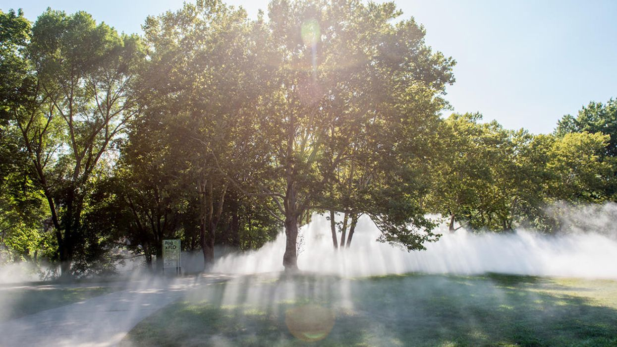 Ethereal Fog Sculptures Are Rolling Through Boston's Parks