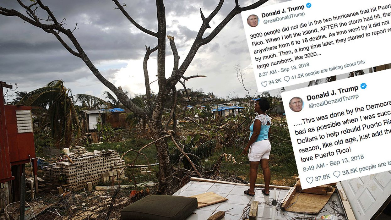 Trump Called 'An International Disgrace' After Claiming '3,000 People Did Not Die' in Puerto Rico