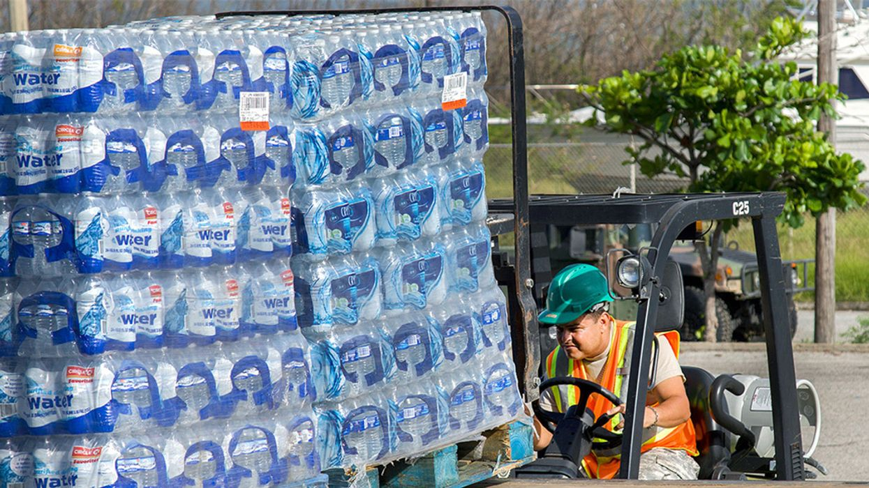 FEMA Left 20,000 Pallets of Water Bottles on Puerto Rico Runway for at Least Four Months