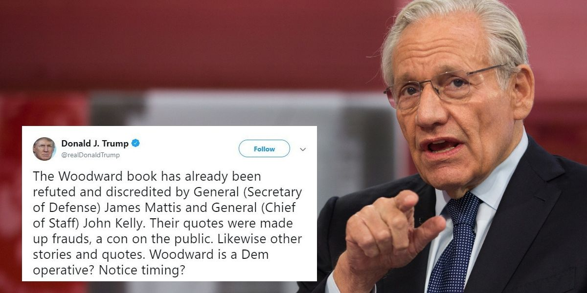 Bob Woodward Warns That He Has The Receipts If Anyone Challenges His Credibility And He's Not Afraid To Release Them