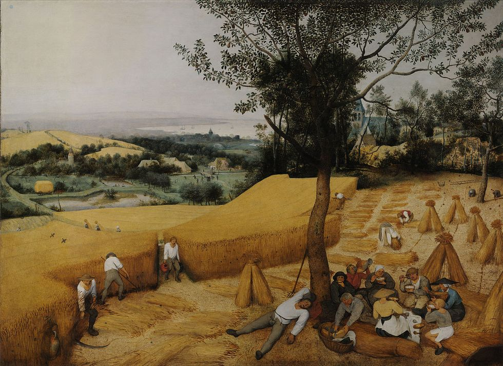 The Harvesters. Pieter Bruegel