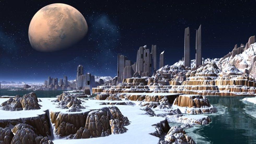 An icy alien world. (Credit: Shutterstock)