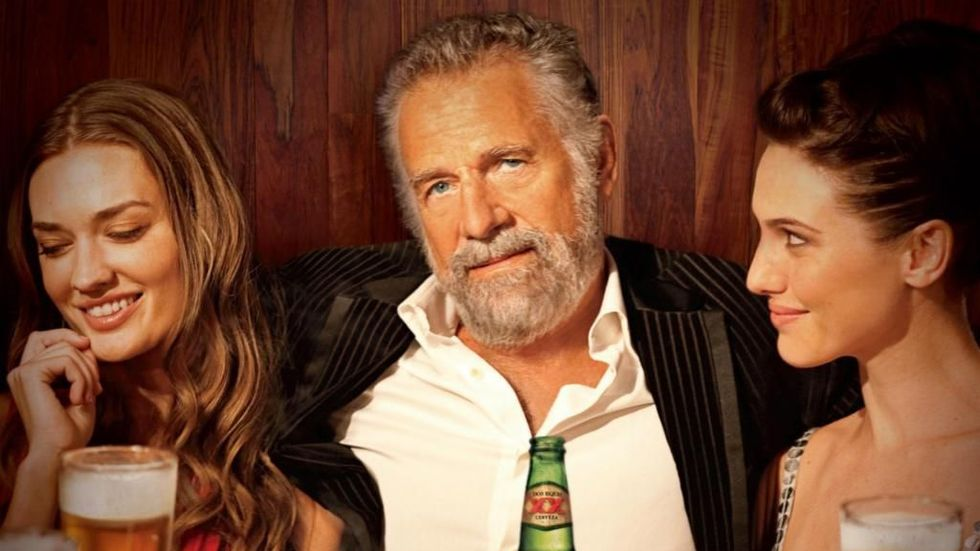 'The Most Interesting Man in the World' ad campaign for Dos Equis beer. (Credit: Dos Equis)