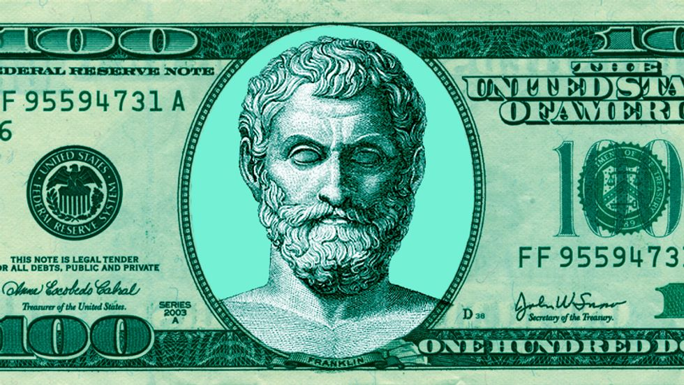 Philosophers have a lot to say about money and how it relates to the good life. (Credit: Public domain/Big Think)