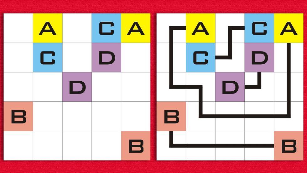 Arukone Logic Puzzle