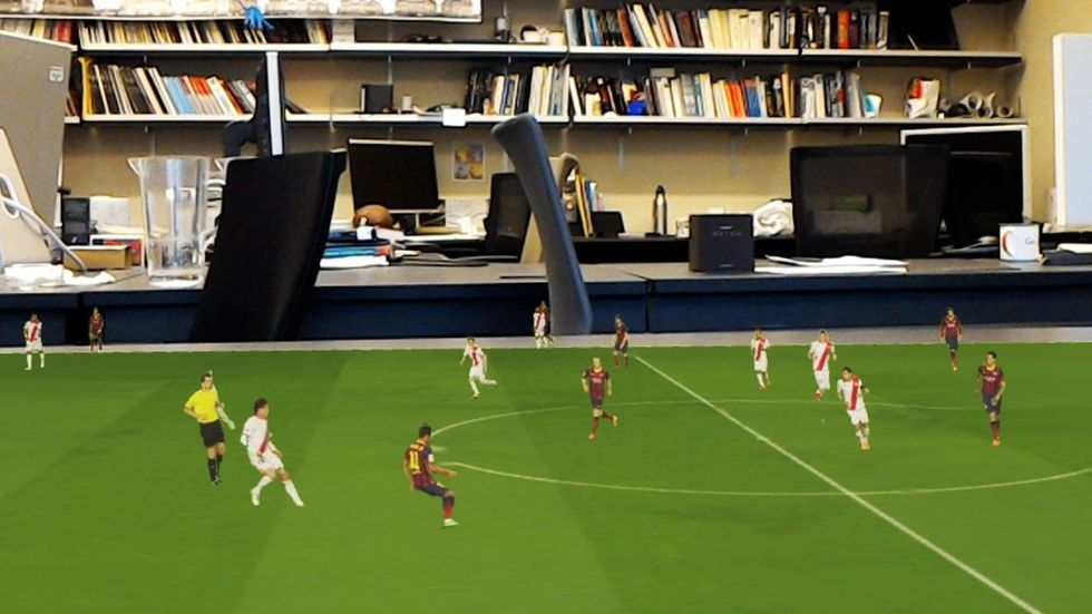 You might watch the next FIFA World Cup in hologram mode. (Credit: University of Washington)
