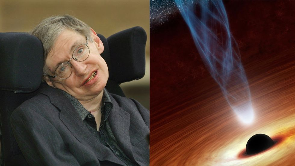 Stephen Hawking smiling happy